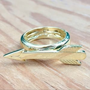 Marc Jacobs Jewelry - Designer Marc Jacobs Gold Arrow Statement Ring